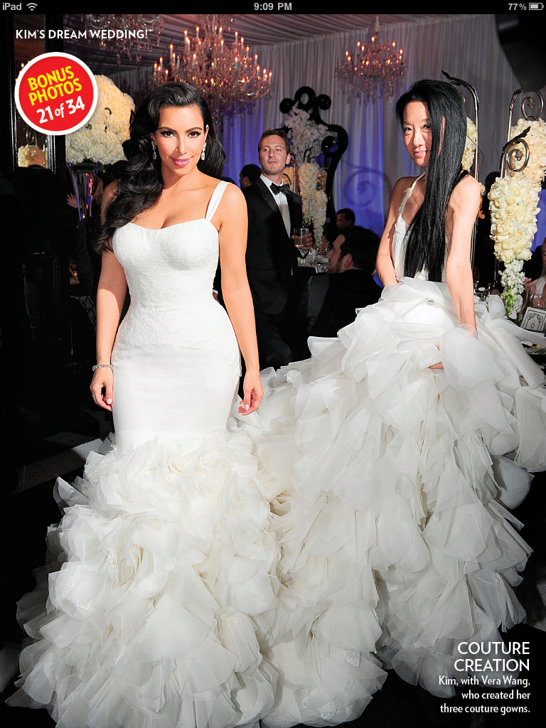 The tokyo notebook kim kardashian i wasnt the biggest fan of her ceremony wedding dress but i loved her bridesmaids dresses and the ruffle fishtail she wore to her reception ombrellifo Image collections