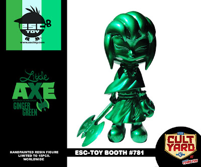 ESC Toy New York Comic-Con 2011 Exclusive Little Axe Ginger Green Resin Figure by Erick Scarecrow