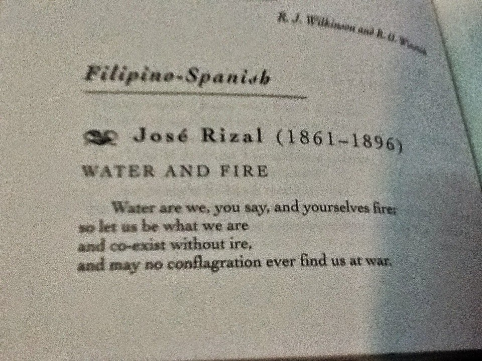 jose rizal poems Jose rizal's poem in memory of my town or un recuerdo a mi pueblo expresses the writer's nostalgia for the town of his birth, calamba in laguna the philippine writer was a 15-year old.