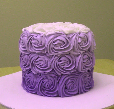 Purple Ombre Rose Cake 3