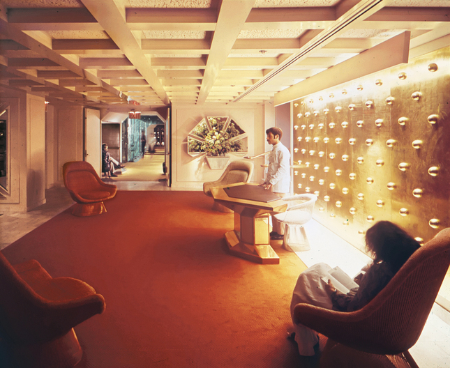 Design-Restaurant der 1970er Jahre