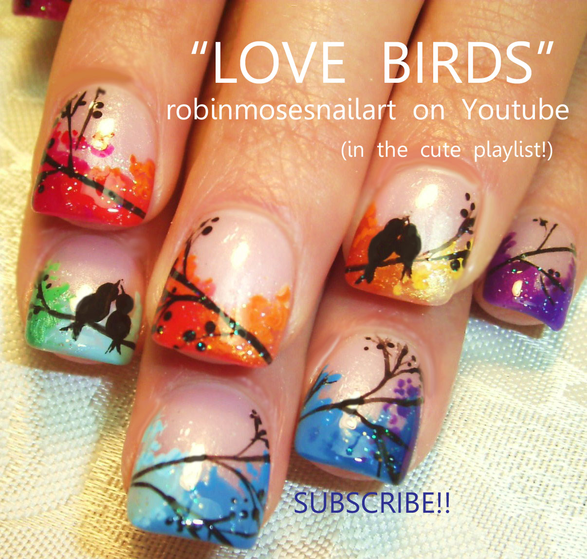 Robin Moses Nail Art Designs: Robin Moses Nail Art: Love Birds, Wedding Marble Nails