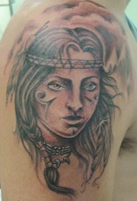 tatuagens de indias americanas nos ombros