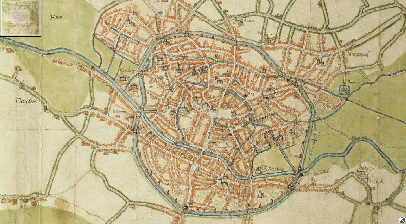 16th Century Flanders Jacob of Deventer Mapmaker