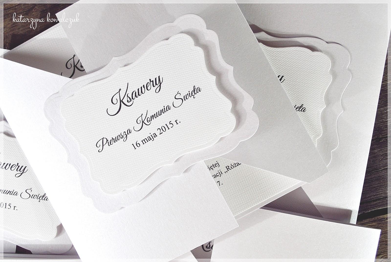 Eleganckie Zaproszenia na Pierwszą Komunię Świętą
