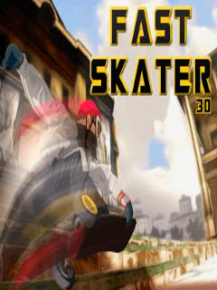 Screenshots of the Fast skater 3D for java mobile, phone.