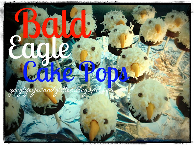 Bald Eagle Cake Pops!