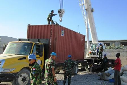 Satgas Kizi TNI Bantu Organisasi Migrasi Internasional di Haiti