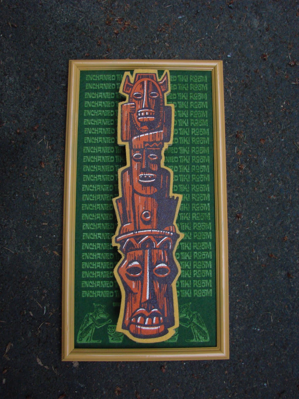 This is my entry for the Tiki Central art swap.