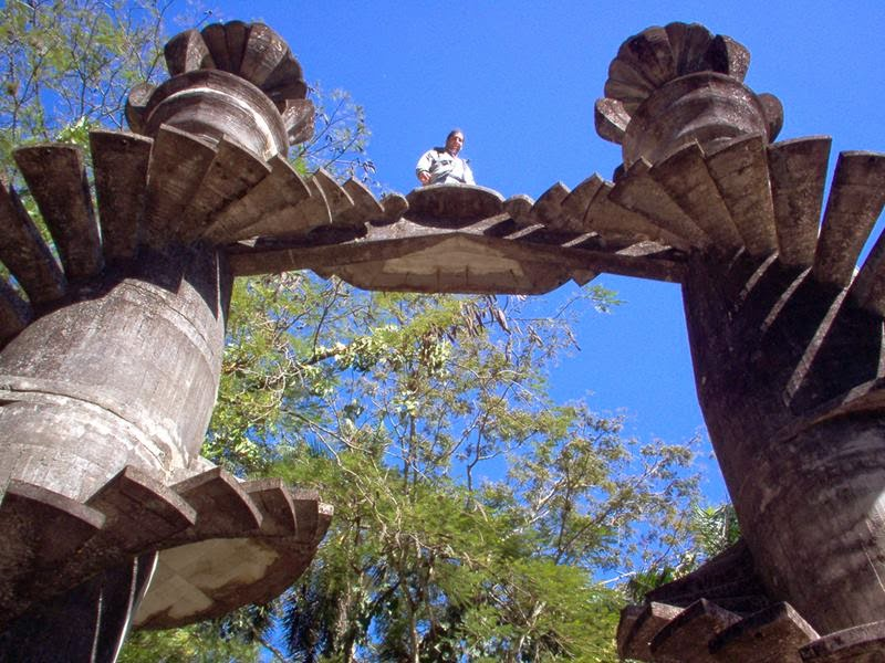 """Las Pozas means """"The Pool"""" — The surreal sculpture jungle park, which is one of the relatively new attractions in Mexico. Is this incredible park complex at an altitude of about 610 meters above sea level in emerald mountains range of the Sierra Madre, near the town Xilitla, Mexico."""