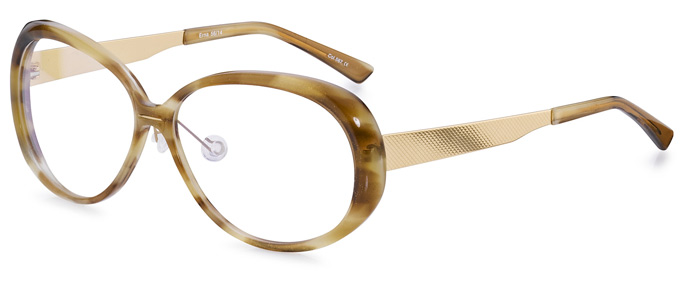Erna glasses in Havana brown and gold dust by Fleye