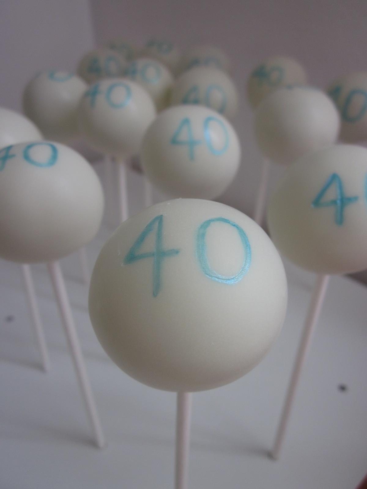 The Cake Pop Bakery: Happy 40th Birthday Pops