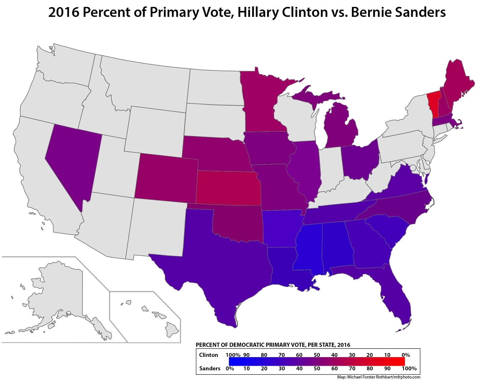 MFR Photoblog Making Better Maps For Primary Elections - Us map of votes for hillary clinton