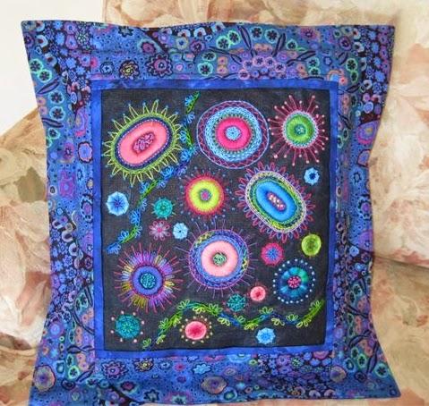 Canvas work cushion