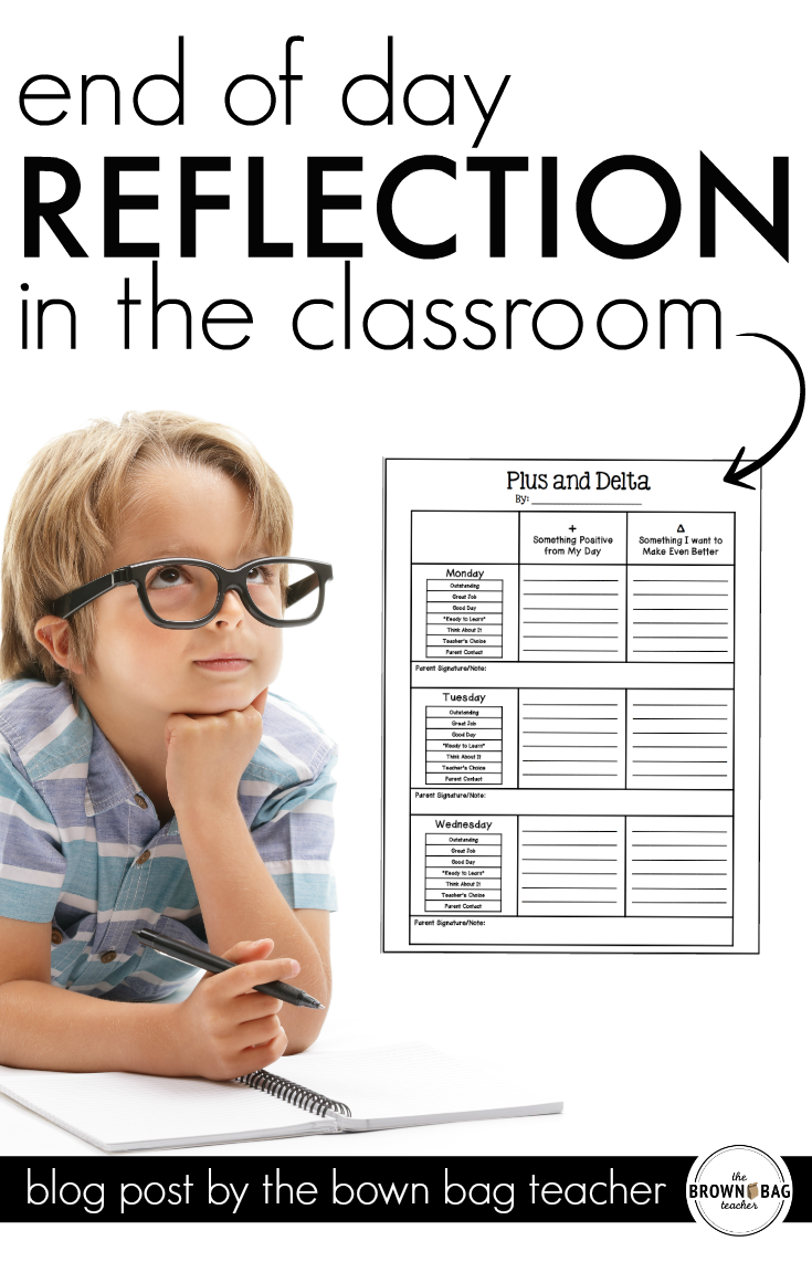 teacher reflection Examples of self-reflection activities elementary education write an after teaching reflection for their lesson plans, have reflective journal responses, and.