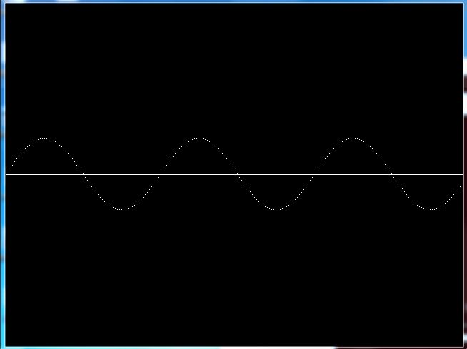 C graphics program to draw sine wave graph