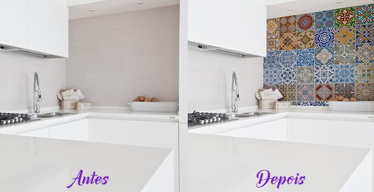 Como decorar com Adesivos  Decor, DIY, Design, Arquitetura -> Banheiro Apartamento Decorado Adesivo