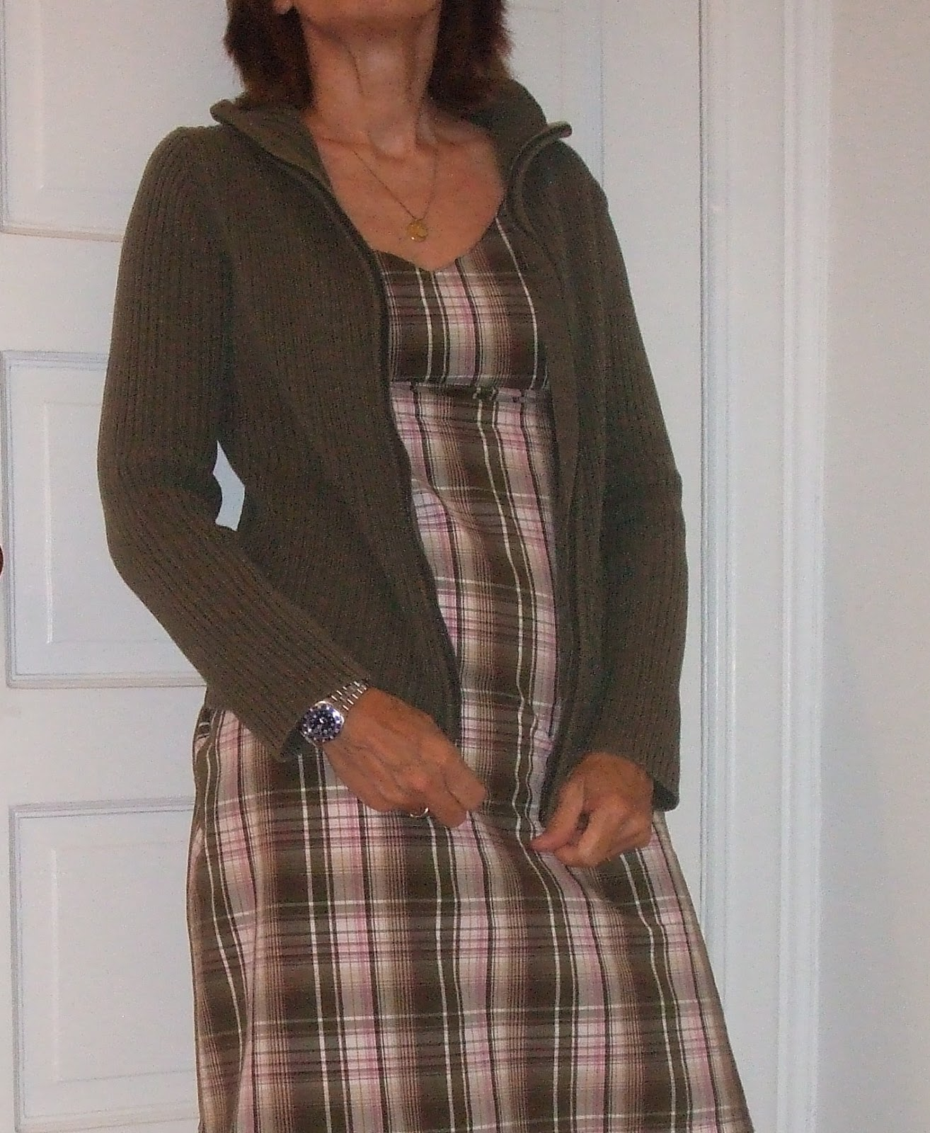 summer plaid dress for women over 50