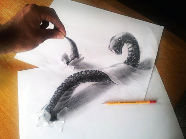 pencil art photo