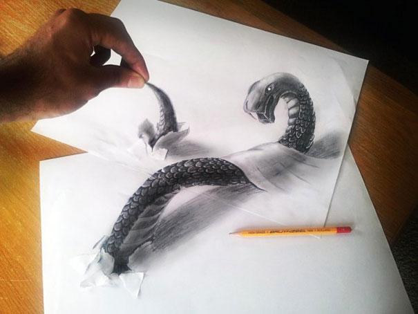 pencil art photo