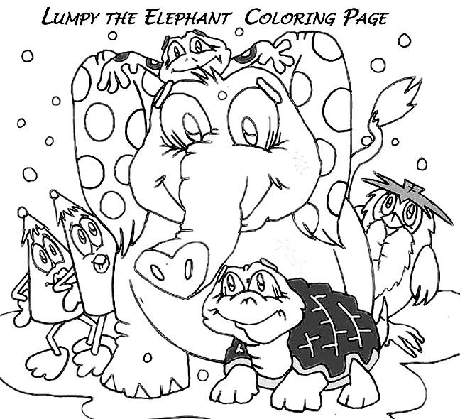 lumpy heffalump coloring pages - photo#32