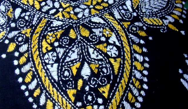 Kantha Craft Of West Bengal Yellow Taxi