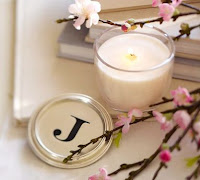 Full Of Great Ideas Monogrammed Candle Pb Knock Off
