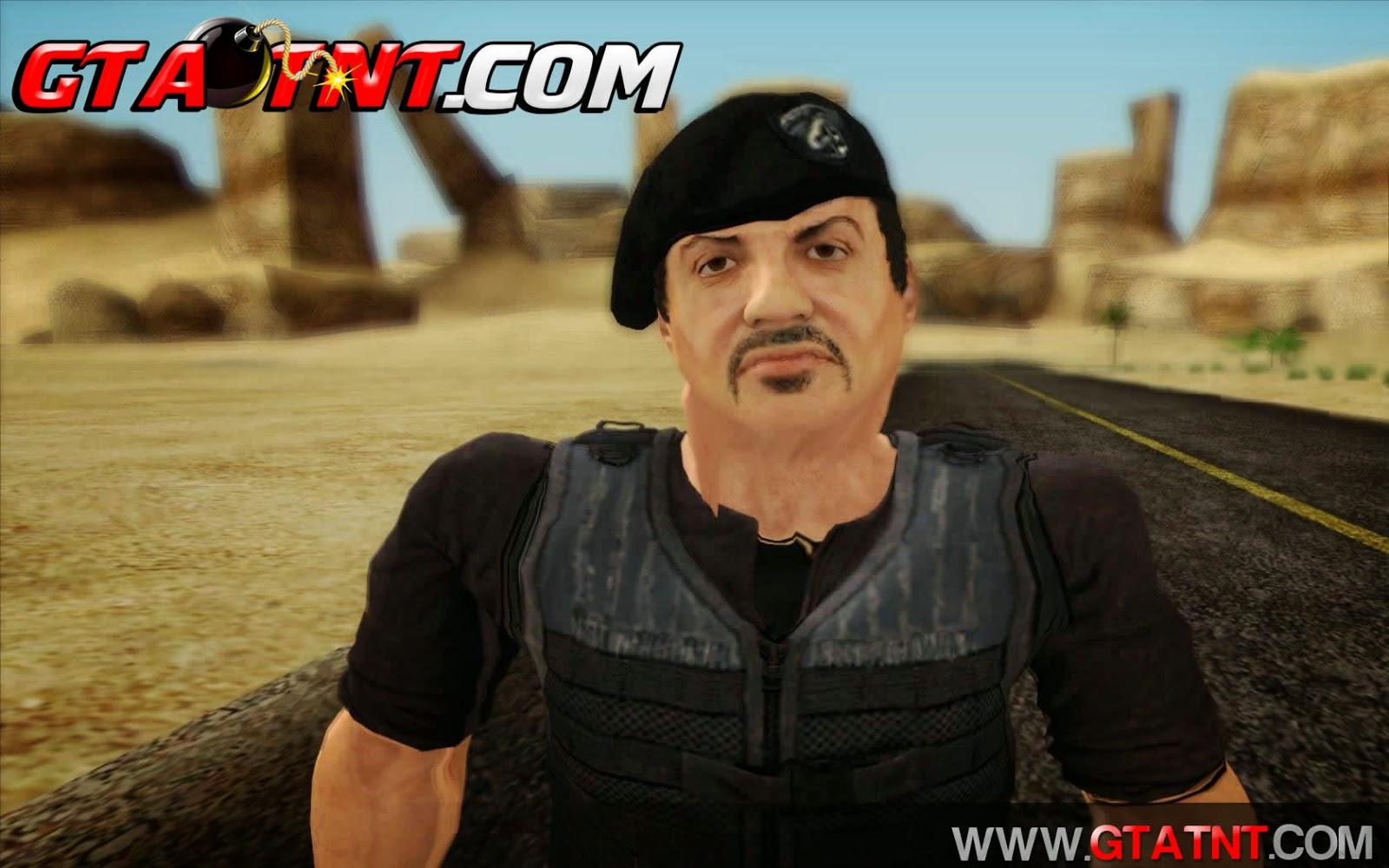 Skin Barney Ross Os Mercenários para GTA San Andreas
