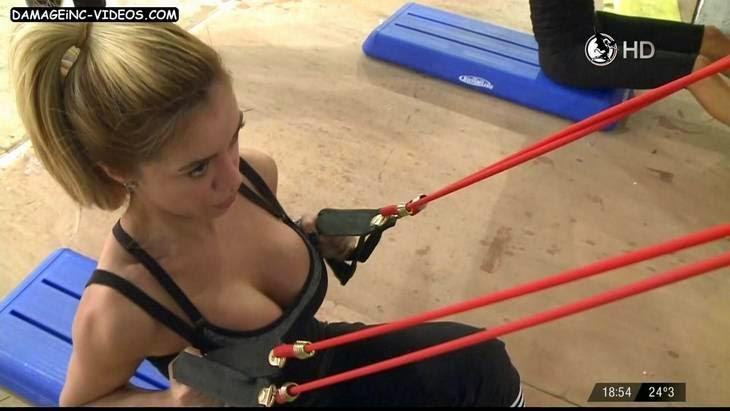 Claudia Ciardone busty blonde HD video cleavage top
