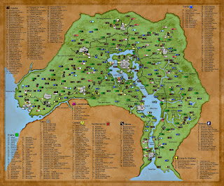 The hydras grotto how much adventure in one 6 mile hex places designated as cities on this map are actually more like citadels and walled towns you can actually see their wall outline from the map gumiabroncs Gallery