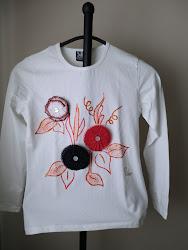 Camiseta Flores Marineras
