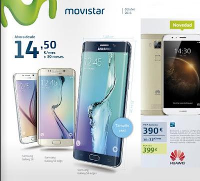 Smartphones movistar octubre 2015