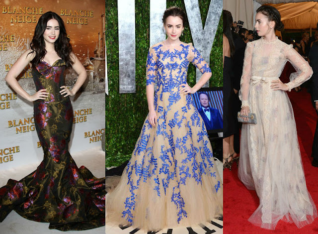 Lily Collins Zac Posen, Lily Collins red carpet, Lily Collins MET Gala, Lily Collins style