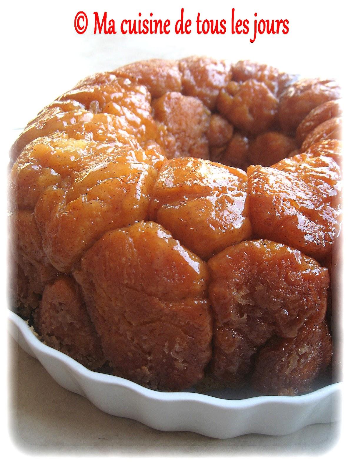 Monkey bread (brioché au caramel) - Recette