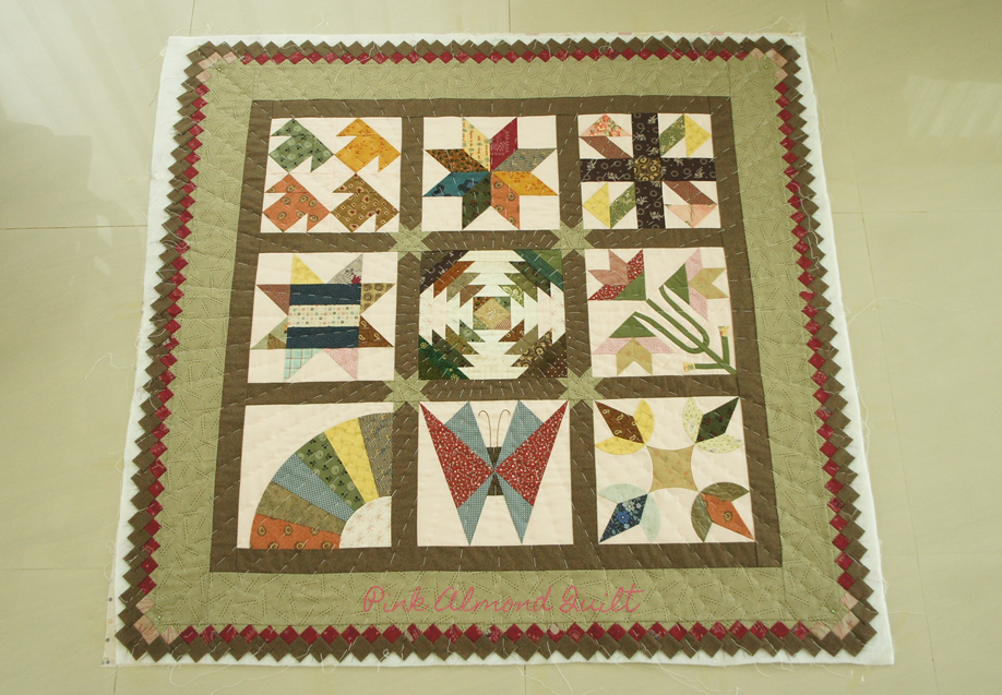 Pink Almond Quilt - Spice up quilt border with seminole patchwork
