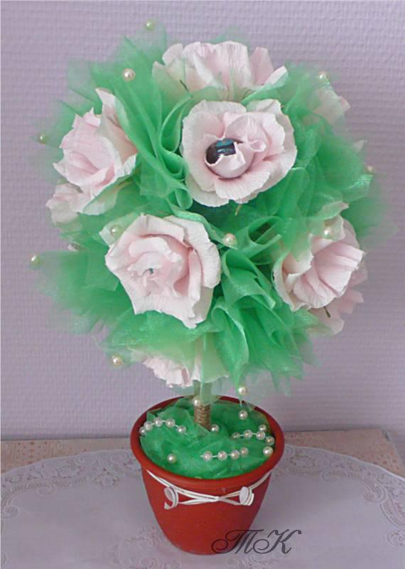 Дерево счастья своими руками из конфет мастер класс 25