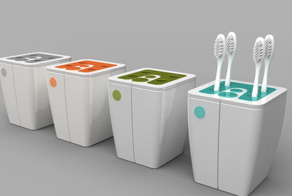 Умный стакан для зубных счеток Oral Care Habit