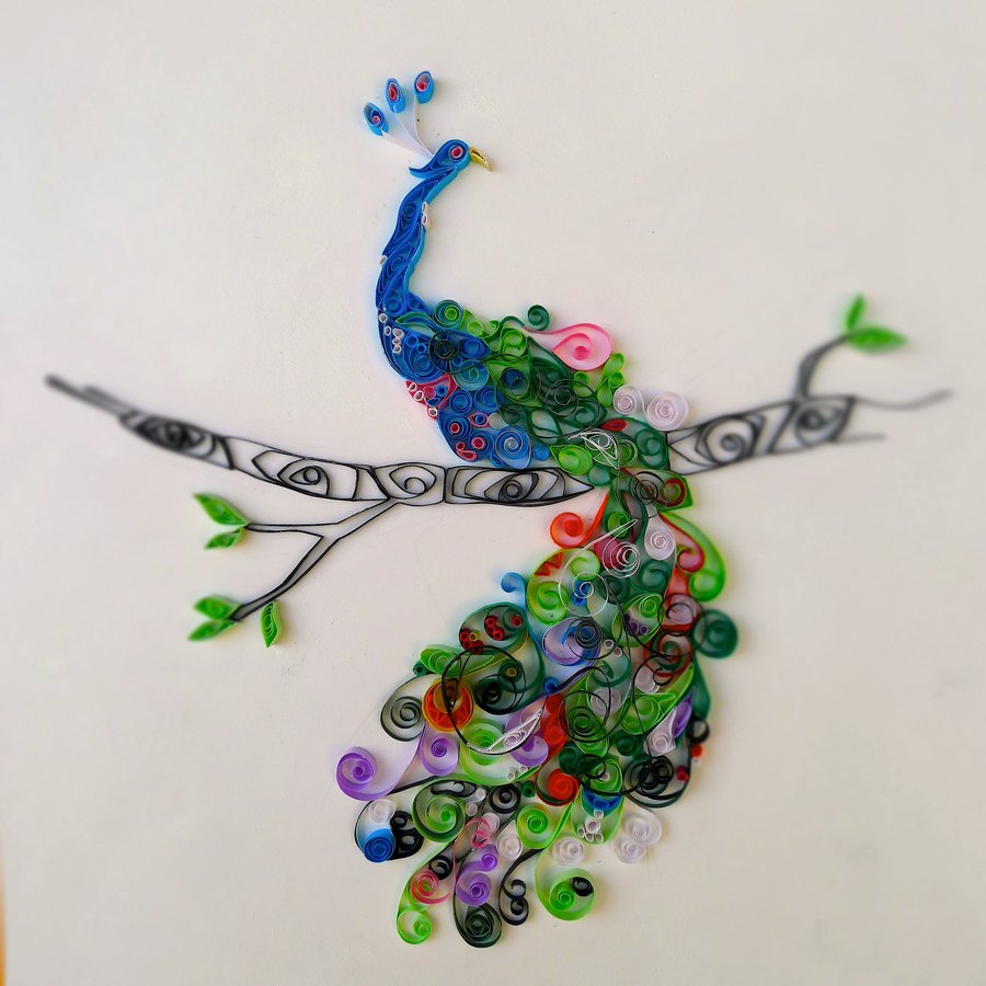 Paper quilling birds design ideas craft art ideas for Quilling paper art