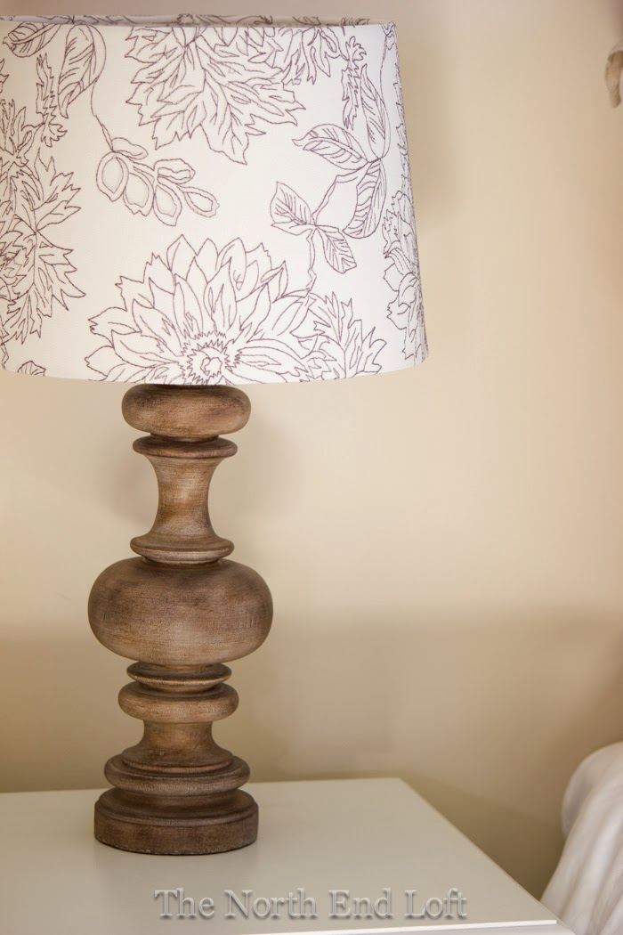 The Turned Wood Lamp Bases And Printed Lamp Shades Are From Target.