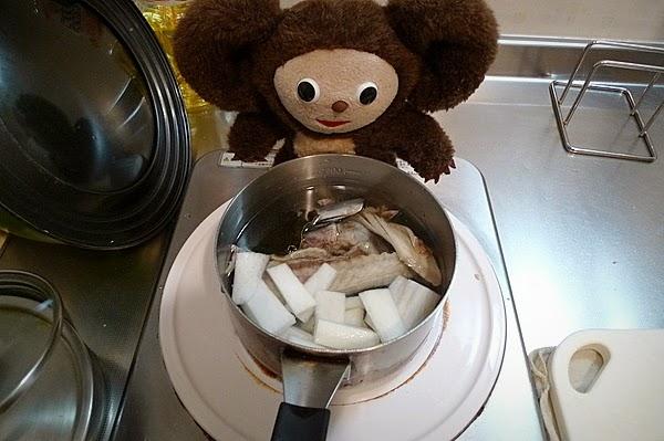塩サバあら汁の作り方(2)