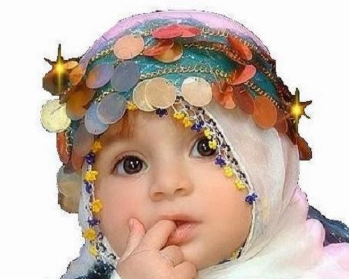 Magnifique photo bébé voilée