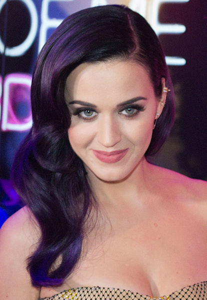 Katy Perry beautiful picture with violet hair