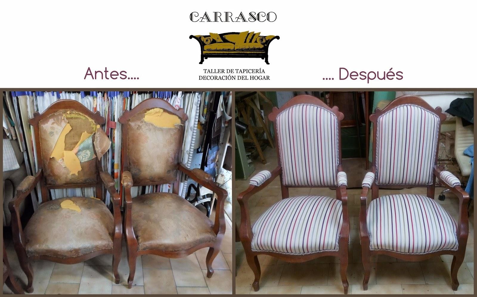 Antes y Después. Tapicería Carrasco.