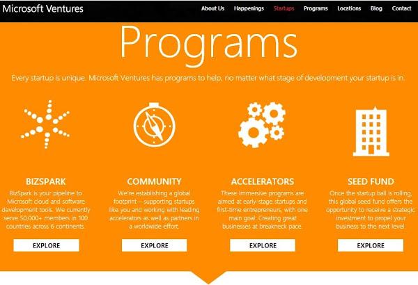 Microsoft Ventures para Startups