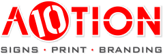 A10TION Cape Town | Sign, Signage, printing, banner, poster, stamp, badge, business card, flyer