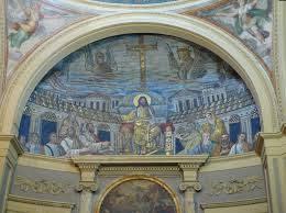 Catino absidale parte che ricopre l' abside in una chiesa,convento, basilica ecc decorativo e ornamentale