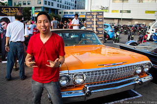 Renz Cheng with the 1963 Chevrolet Impala