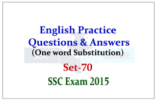 Practice English Questions (One word substitution)