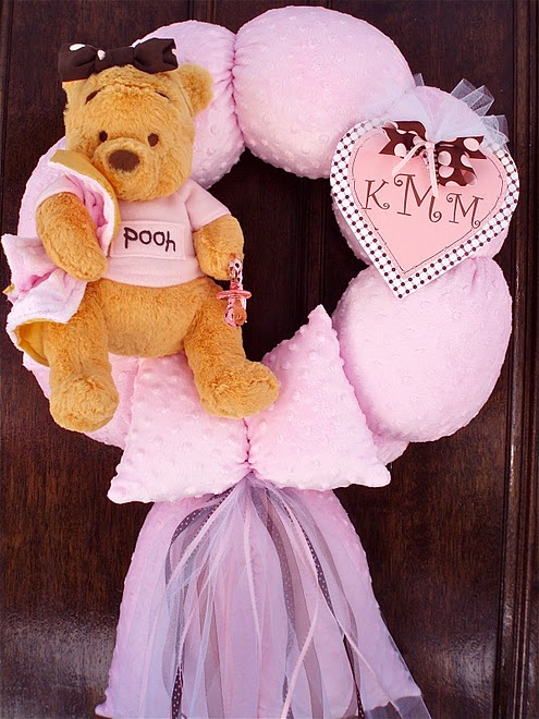 13. Pink Pooh Wreath