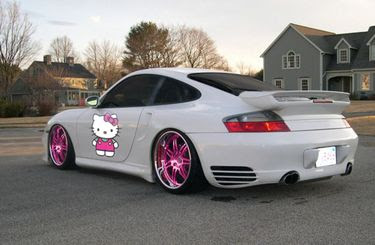 Hello Kitty Porsche car